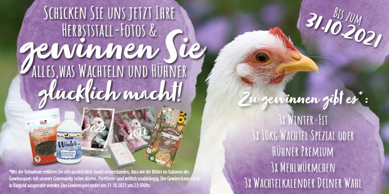 Zeigen Sie uns Ihren Hühner-Herbststall