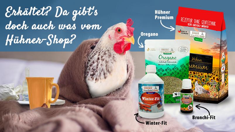 Erkältet? Auch bei Hühnern kann das schnell gehen!